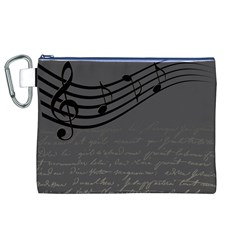 Music Clef Background Texture Canvas Cosmetic Bag (xl) by Nexatart