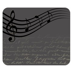 Music Clef Background Texture Double Sided Flano Blanket (small)  by Nexatart