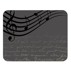 Music Clef Background Texture Double Sided Flano Blanket (large)  by Nexatart