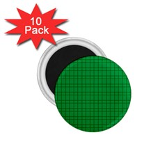 Pattern Green Background Lines 1 75  Magnets (10 Pack)  by Nexatart