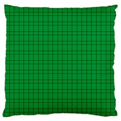 Pattern Green Background Lines Large Flano Cushion Case (two Sides) by Nexatart