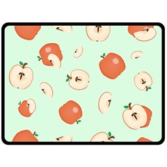 Apple Fruit Background Food Double Sided Fleece Blanket (large)  by Nexatart