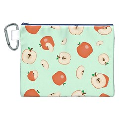Apple Fruit Background Food Canvas Cosmetic Bag (xxl) by Nexatart