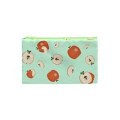 Apple Fruit Background Food Cosmetic Bag (xs) by Nexatart