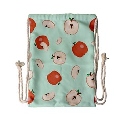 Apple Fruit Background Food Drawstring Bag (small) by Nexatart