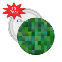 Green Blocks Pattern Backdrop 2 25  Buttons (10 Pack)  by Nexatart