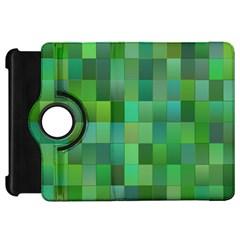 Green Blocks Pattern Backdrop Kindle Fire Hd 7  by Nexatart