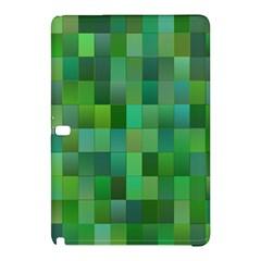 Green Blocks Pattern Backdrop Samsung Galaxy Tab Pro 12 2 Hardshell Case by Nexatart