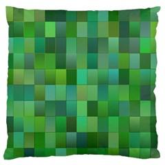 Green Blocks Pattern Backdrop Standard Flano Cushion Case (one Side) by Nexatart