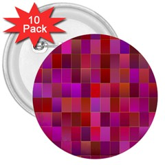 Shapes Abstract Pink 3  Buttons (10 Pack)  by Nexatart