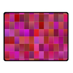 Shapes Abstract Pink Fleece Blanket (small) by Nexatart