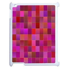 Shapes Abstract Pink Apple Ipad 2 Case (white) by Nexatart