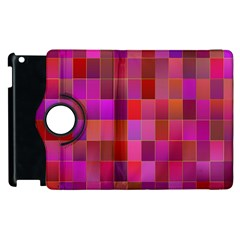 Shapes Abstract Pink Apple Ipad 3/4 Flip 360 Case by Nexatart