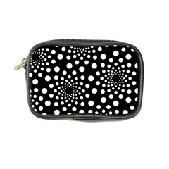Dot Dots Round Black And White Coin Purse by Nexatart