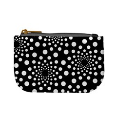 Dot Dots Round Black And White Mini Coin Purses