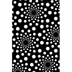 Dot Dots Round Black And White 5 5  X 8 5  Notebooks by Nexatart