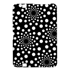 Dot Dots Round Black And White Kindle Fire Hd 8 9  by Nexatart