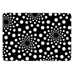 Dot Dots Round Black And White Samsung Galaxy Tab 8 9  P7300 Flip Case by Nexatart
