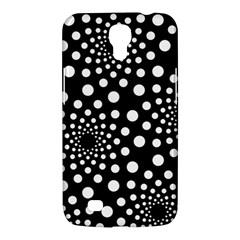 Dot Dots Round Black And White Samsung Galaxy Mega 6 3  I9200 Hardshell Case by Nexatart