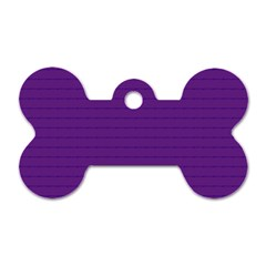 Pattern Violet Purple Background Dog Tag Bone (two Sides) by Nexatart