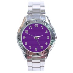 Pattern Violet Purple Background Stainless Steel Analogue Watch by Nexatart