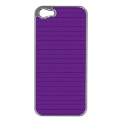 Pattern Violet Purple Background Apple Iphone 5 Case (silver)