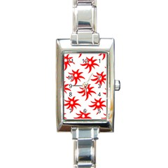 Star Figure Form Pattern Structure Rectangle Italian Charm Watch by Nexatart