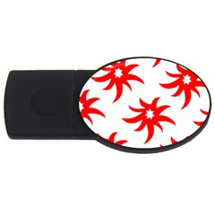 Star Figure Form Pattern Structure Usb Flash Drive Oval (4 Gb) by Nexatart