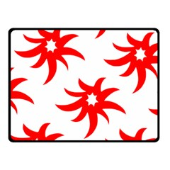 Star Figure Form Pattern Structure Fleece Blanket (Small)