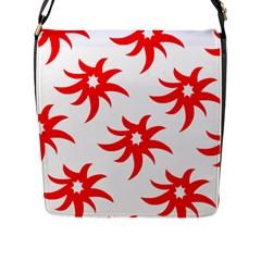 Star Figure Form Pattern Structure Flap Messenger Bag (l)  by Nexatart