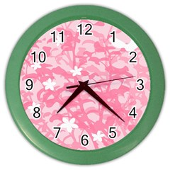 Plant Flowers Bird Spring Color Wall Clocks