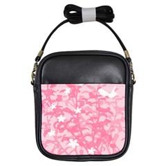 Plant Flowers Bird Spring Girls Sling Bags by Nexatart