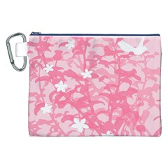 Plant Flowers Bird Spring Canvas Cosmetic Bag (xxl) by Nexatart