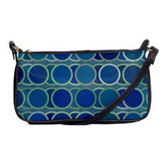 Circles Abstract Blue Pattern Shoulder Clutch Bags by Nexatart