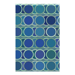 Circles Abstract Blue Pattern Shower Curtain 48  X 72  (small)  by Nexatart