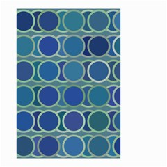 Circles Abstract Blue Pattern Small Garden Flag (two Sides) by Nexatart