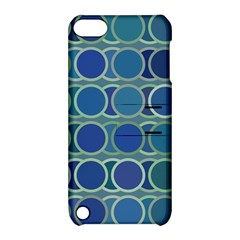 Circles Abstract Blue Pattern Apple Ipod Touch 5 Hardshell Case With Stand by Nexatart