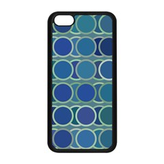 Circles Abstract Blue Pattern Apple Iphone 5c Seamless Case (black) by Nexatart