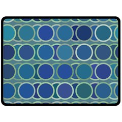 Circles Abstract Blue Pattern Double Sided Fleece Blanket (large)  by Nexatart