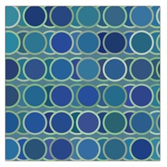 Circles Abstract Blue Pattern Large Satin Scarf (square) by Nexatart