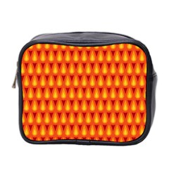 Simple Minimal Flame Background Mini Toiletries Bag 2 Side