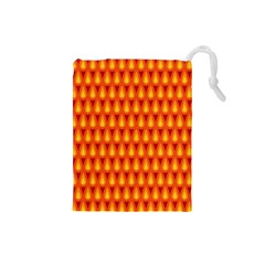 Simple Minimal Flame Background Drawstring Pouches (small)  by Nexatart