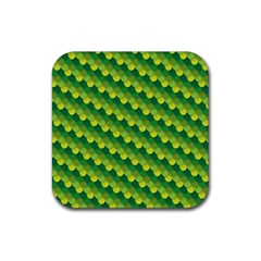 Dragon Scale Scales Pattern Rubber Square Coaster (4 Pack)  by Nexatart