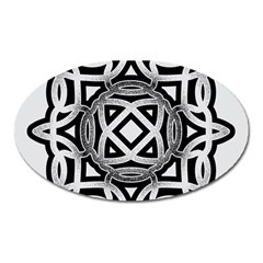Celtic Draw Drawing Hand Draw Oval Magnet