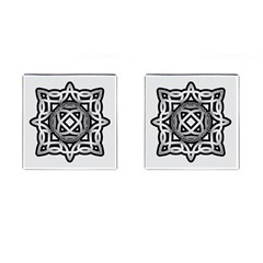 Celtic Draw Drawing Hand Draw Cufflinks (square) by Nexatart