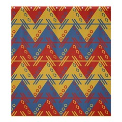 Aztec Traditional Ethnic Pattern Shower Curtain 66  X 72  (large)  by Nexatart