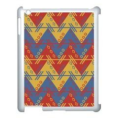 Aztec Traditional Ethnic Pattern Apple Ipad 3/4 Case (white) by Nexatart