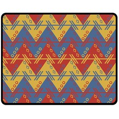 Aztec Traditional Ethnic Pattern Double Sided Fleece Blanket (medium)  by Nexatart