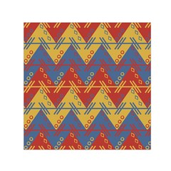 Aztec Traditional Ethnic Pattern Small Satin Scarf (square) by Nexatart