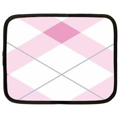 Tablecloth Stripes Diamonds Pink Netbook Case (xxl)